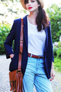 Navy-monki-blazer-vero-moda-bag-gina-tricot-belt-weekday-top