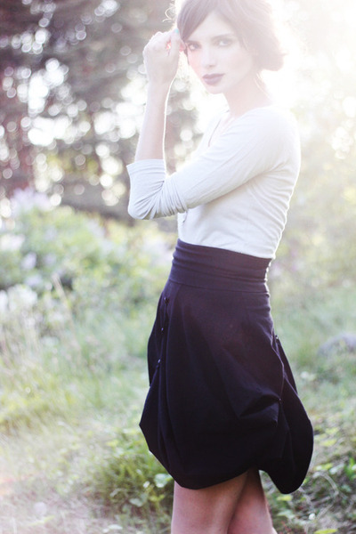 silver Wardrobe Stockholm shirt - black assymetrical Johanna Vikman skirt