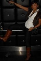 Infinitif Paris top - Dorothy  Perkin jeans - Mango purse - Motivi boots