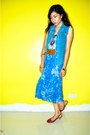 Blue-maxi-skirt-skirt-brick-red-american-eagle-sandals-blue-zara-top