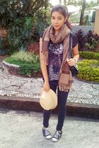 scarf - Mossimo jeans - XOXO bag - Converse sneakers - Zara top
