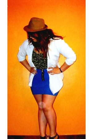 Primark skirt - HyM hat - HyM shirt - Zara t-shirt