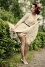 Vintage-lace-dress-mock-suspender-stockings