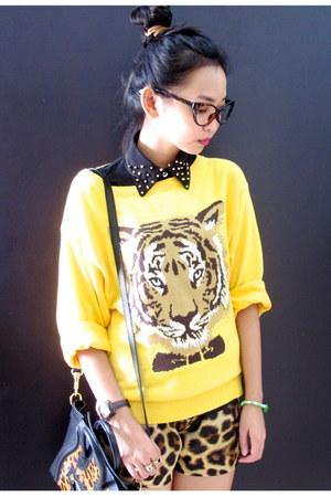 leopard print Celine bag - leopard print La delle clothing shorts
