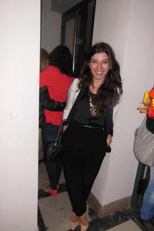 Zara blazer - asos heels - Ebay necklace