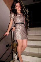 sequin dress new look dress - New Yorker heels