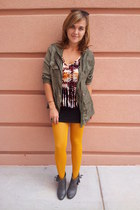mustard opaque mustard Charlotte Russe tights