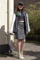 Mango skirt - Adidas Originals jacket - H&M Trend bag - hippe-schoenennl heels