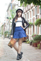 H&M hat - Jeffrey Campbell boots - warehouse jacket - H&M Trend bag