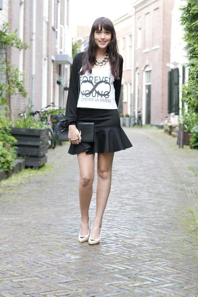 H&M Trend skirt - Antipodium shoes - Nowhere purse - la sisters top