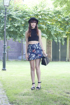 Marc by Marc Jacobs watch - h&m divided hat - Zara bag - Zara skirt