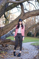 vagabond boots - Ebay hat - River Island jacket - inlovewithfashion sweater