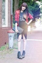 objection blazer - H&M Trend bag - OASAP skirt - Alexander Wang heels