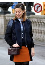 Burnt-orange-zara-skirt-black-zara-boots-navy-h-m-jacket