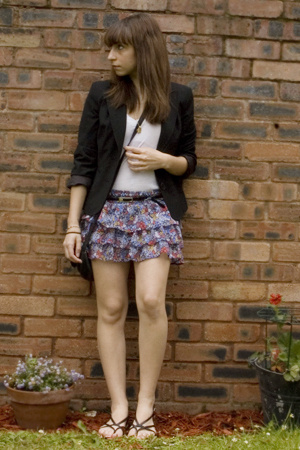 Urban Outfitters top - Oasis blazer - new look skirt - Urban Outfitters shoes