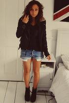 Topshop jacket - Jeffrey Campbell boots - vintage shorts - Zara t-shirt