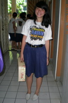 t-shirt - skirt - moms belt - accessories - shoes