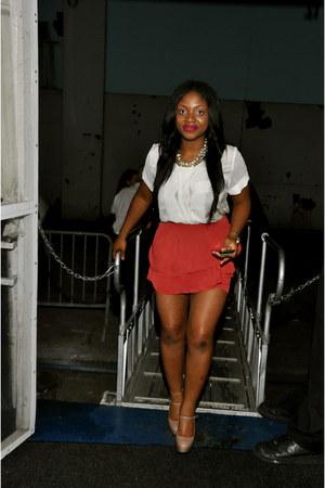 Aldo shoes - H&M blouse - H&M skirt - PNKelephant necklace