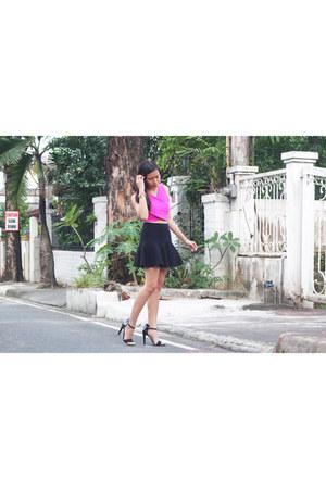 Aldo bracelet - Hong Kong skirt - Aveadena top - Delicious heels