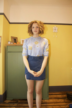 Topshop skirt - Primark jacket - asos jumper