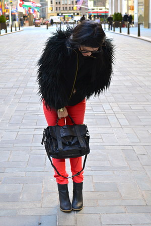 Zara coat - H&M boots - Paige Denim jeans - PROENZA SCHOULER bag