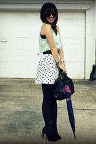 H&M top - Zara skirt - Max Studio heels