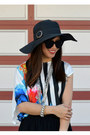 Floppy-hat-target-hat-zara-shirt-foley-corinna-bag-zara-heels