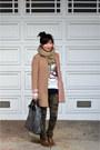 Camo-zara-pants-old-navy-boots-camel-h-m-jacket-knit-h-m-scarf