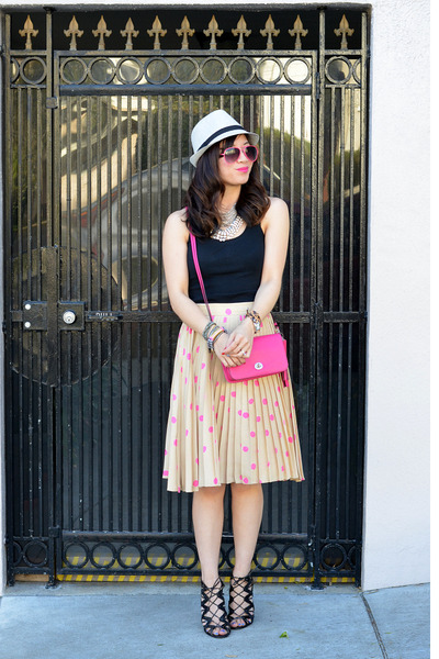 polka dot kate spade skirt - Target hat - coach purse
