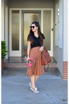 Target t-shirt - 31 Phillip Lim x Target bag - polka dot thrifted skirt