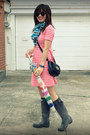 Hunter-boots-f21-dress-dvf-scarf-mulberry-for-target-bag