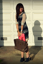 banana republic dress - Nanette Lepore shoes - H&M shirt
