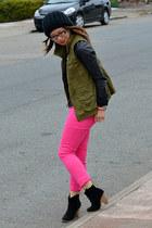 asos boots - H&M jeans - f21 hat - unknown jacket - Old Navy vest