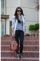Zara blazer - Forever 21 jeans - 31 Phillip Lim x Target bag