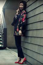 H&M jacket - Paige jeans - Gap heels