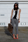 H-m-hat-31-phillip-lim-bag-white-zara-vest-stripe-uniqlo-pants