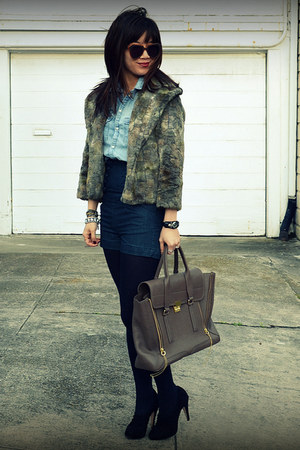 H&M Kids shorts - unknown shorts - unknown jacket - 31 Phillip Lim bag