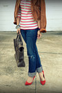 H-m-shirt-american-eagle-jeans-madwell-jacket-gap-heels