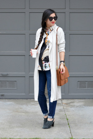 trench H&M coat - Prabal Gurung x Target shirt - willis coach bag