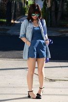scallop trim Urban Outfitters romper - Pixie Market shoes