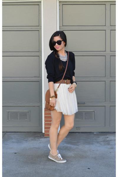 H&M sweater - as skirt thrifted dress - willis coach bag