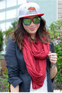 Red-american-apparel-scarf-forever-21-jeans-this-state-of-mind-hat
