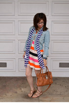 H&M dress - H&M jacket - H&M scarf - Michael Kors bag - f21 necklace