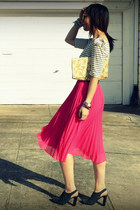 H&M skirt - Anthropologie top - Nanette Lepore heels