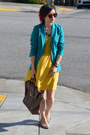 Yellow-anthropologie-dress-aqua-blue-h-m-blazer-31-phillip-lim-bag