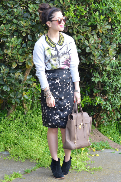 31 Phillip Lim bag - asos boots - random skirt - Zara necklace