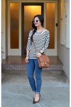 Forever 21 jeans - dolman stripe Forever 21 shirt - willis coach bag