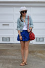 H-m-hat-denim-h-m-jacket-red-tory-burch-bag-blue-forever-21-skirt