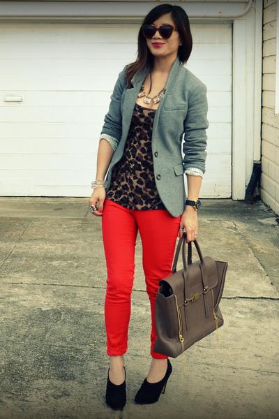 H&M jeans - H&M blazer - Phillip Lim bag - f21 top - Max Studio heels