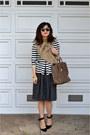 Peplum-zara-top-wool-thrifted-skirt-zara-heels